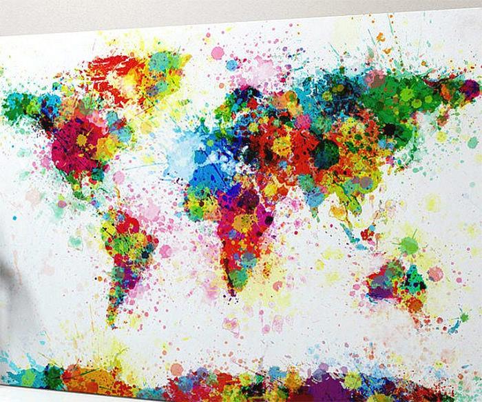 20 Najbardziej Kreatywnych Przer 243 Bek Mapy świata Blaber
