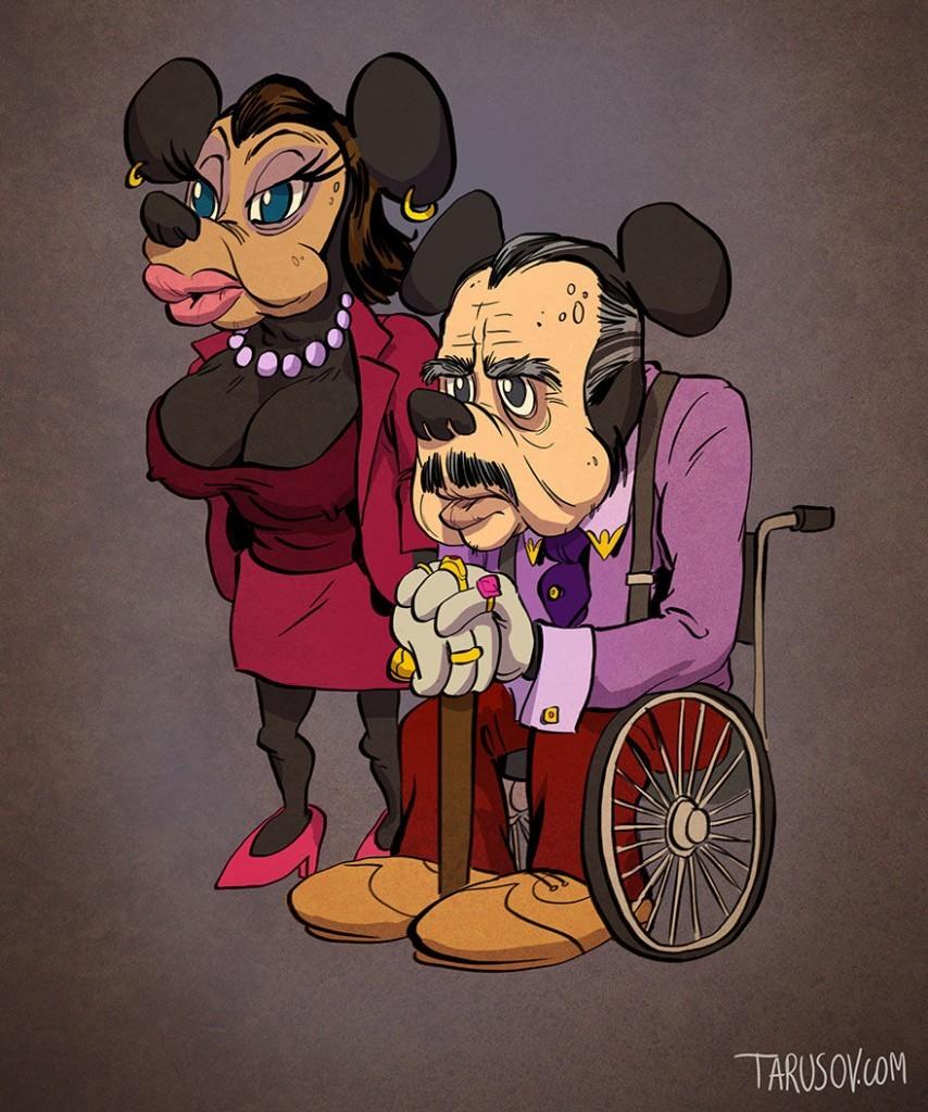 kreskówkowe postacie, gdyby były starsze