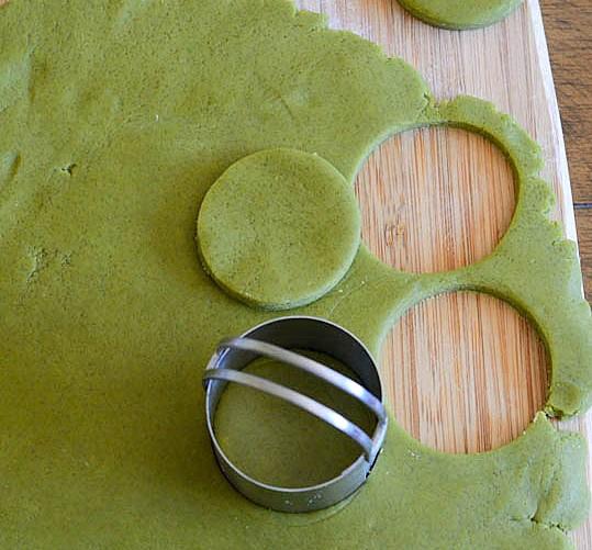 ciasteczka z zieloną herbatą matcha