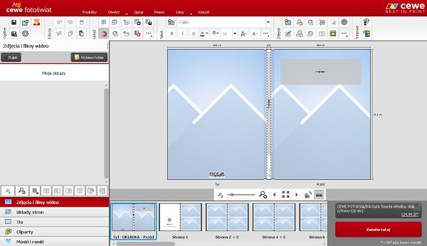Program do tworzenia fotoksiążek jest bardzo intuicyjny i prosty w obsłudze.