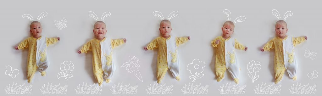 kolaż niemowlęta