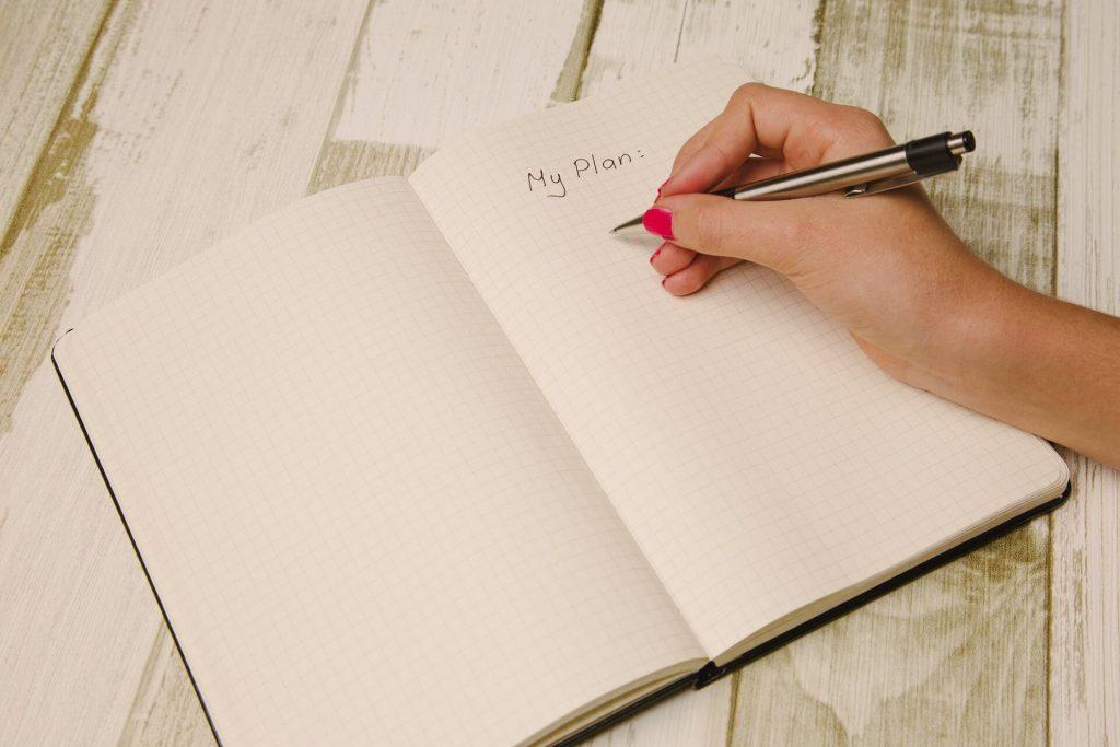 planowanie, pustka, notatnik