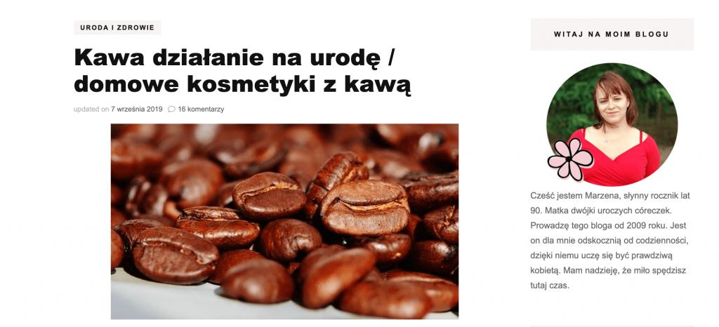 Kawa na urodę